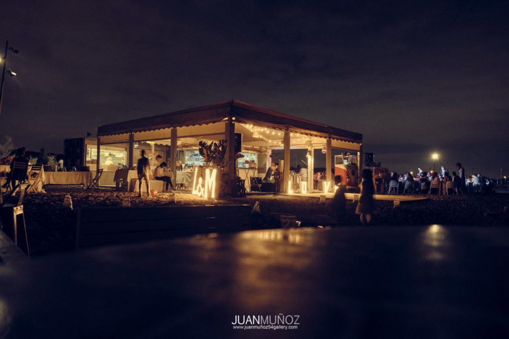 fotografía de boda. 54gallery . Chiringuito Iguana