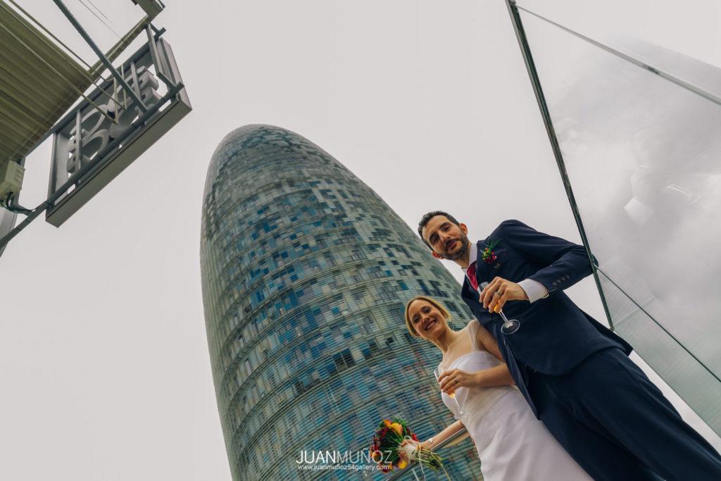 Boda en The Gates Diagonal, Juan Muñoz fotografía. 54gallery, fotógrafo de boda en Barcelona